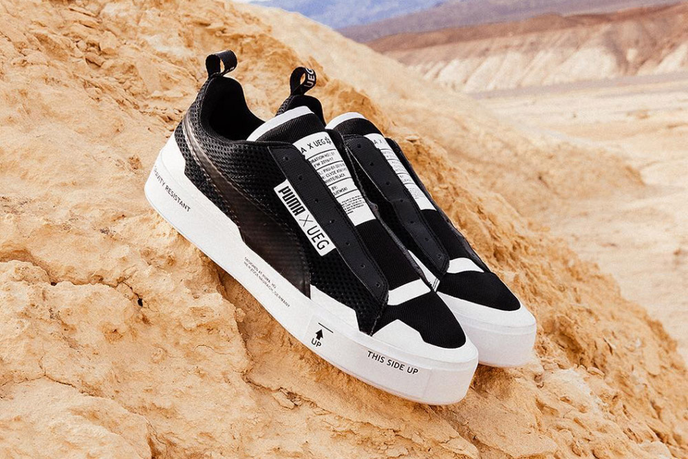 PUMA x UEG — Gravity Resistance — futuristické tenisky, sneakers — lookbook