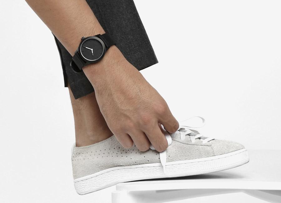 Triwa x Stampd — černé hodiny — pánské, dámské — minimalistické, náramkové