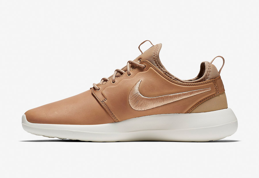 NikeLab Roshe Two Leather — boty — kožené tenisky — sneakers — hnědé, béžové, pískové — pánské — Nike Roshe Two