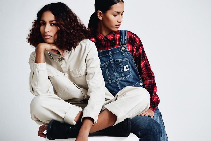 Carhartt WIP — dámská košile, kalhoty — dámské lacláče, overal — kostkovaná košile, flanelka