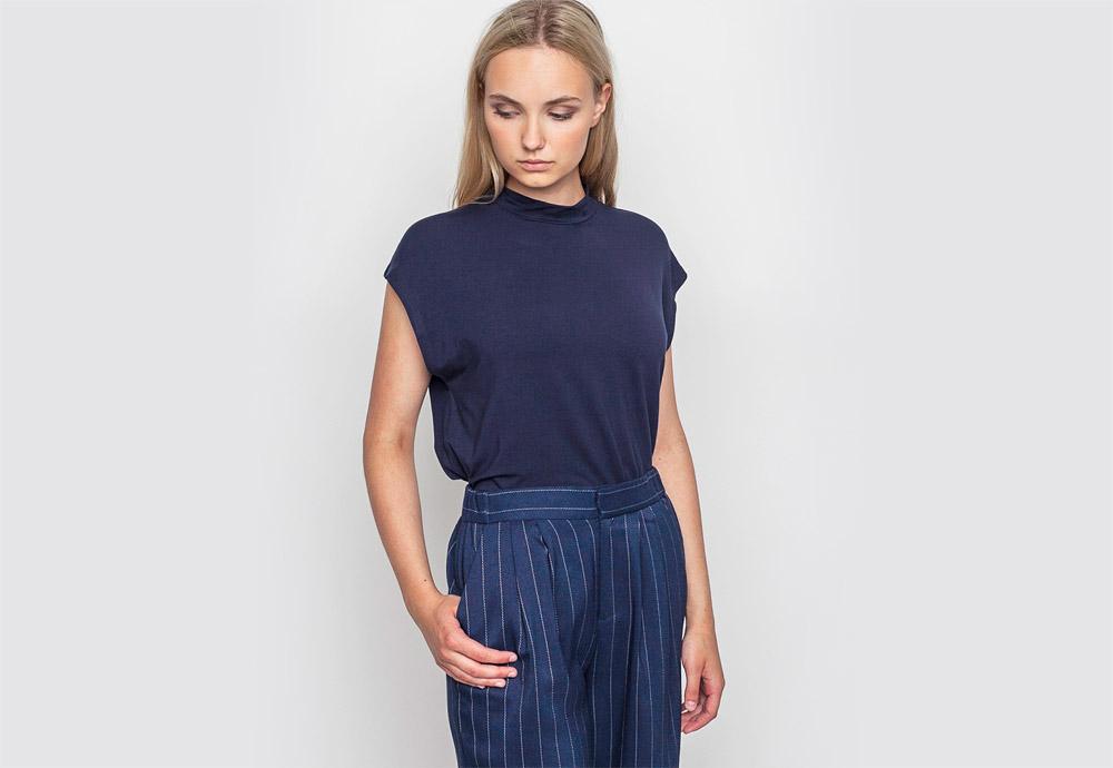 mbyM — dámské modré tričko bez rukávů — top bez rukávů