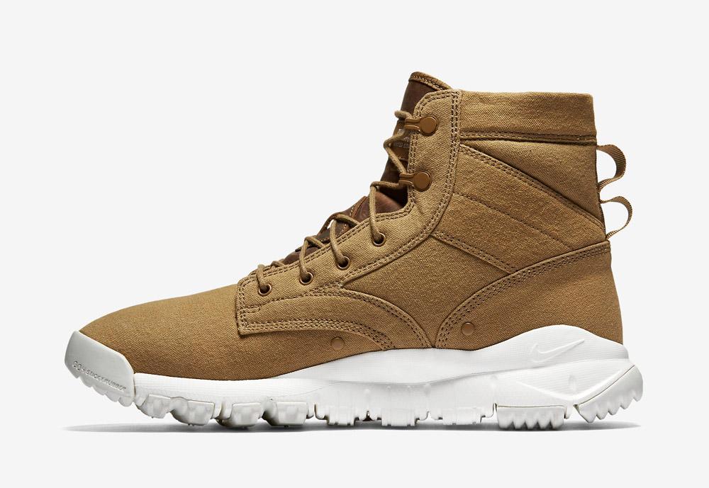 """Nike SFB Field 6"""" Canvas — vysoké kotníkové boty — zimní, podzimní — pánské — béžové, hnědé, pískové"""