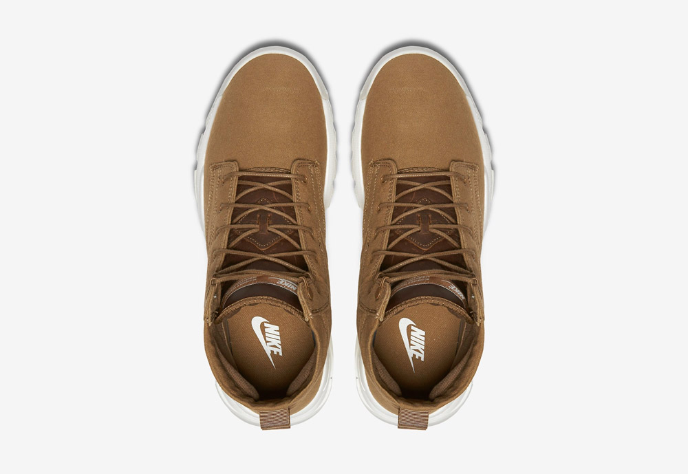 """Nike SFB Field 6"""" Canvas — vysoké kotníkové boty — béžové, hnědé, pískové — horní pohled"""