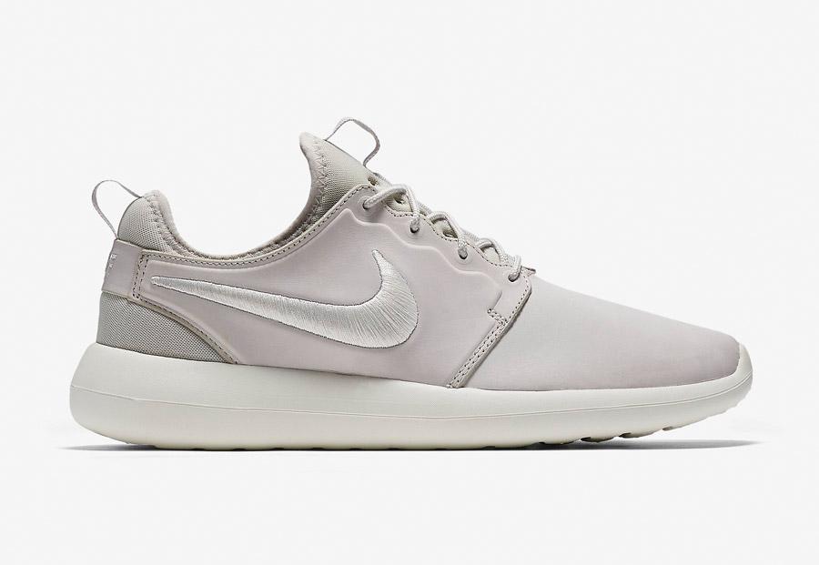 NikeLab Roshe Two Leather — boty — kožené tenisky — sneakers — šedé — pánské — Nike Roshe Two