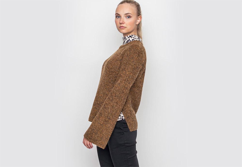 mbyM — raglánový svetr — dámský — hnědý, bronzový