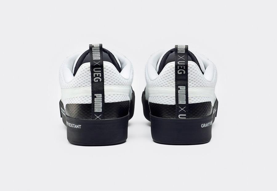 PUMA Court Play SlipOn x UEG — boty — tenisky — sneakers — bez tkaniček — zadní pohled — Gravity Resistance