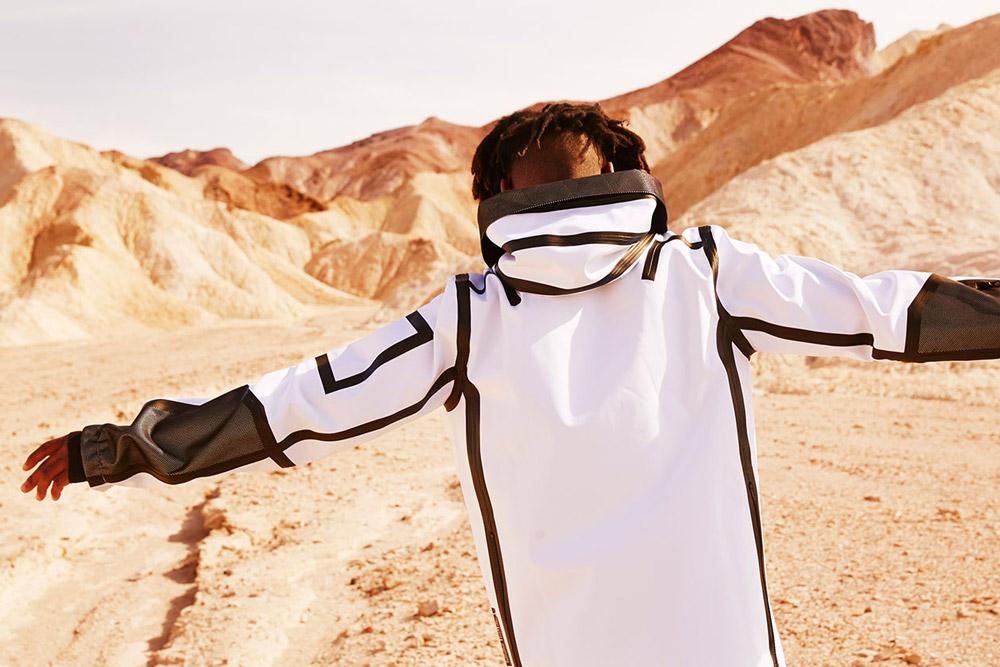 PUMA x UEG — Gravity Resistance — pánská mikina s kapucí, bílá — futuristická — lookbook