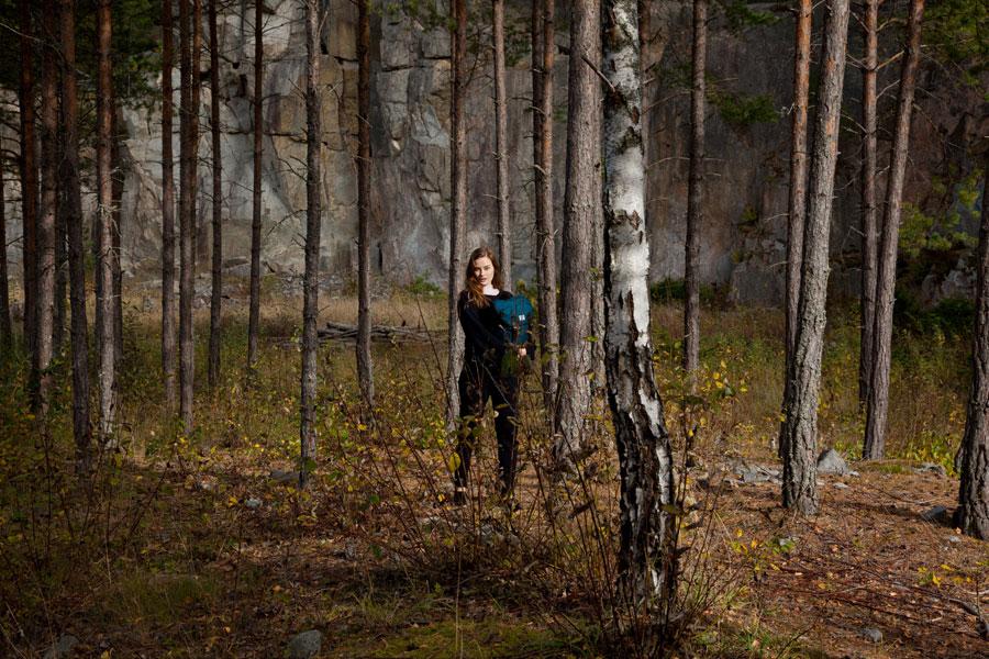 Sandqvist — stylové batohy a tašky — lookbook podzim/zima 2016 — modrý batoh