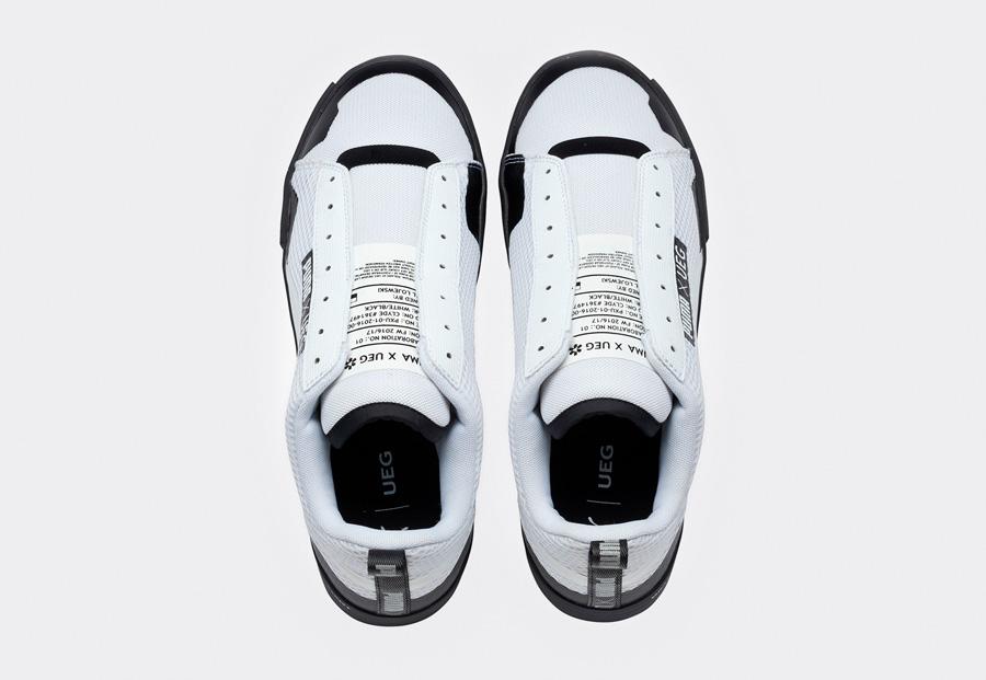 PUMA Court Play SlipOn x UEG — tenisky — boty — sneakers — bez tkaniček — horní pohled — Gravity Resistance