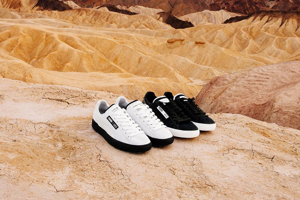 PUMA x UEG — Gravity Resistance — černé a bílé tenisky, sneakers — lookbook