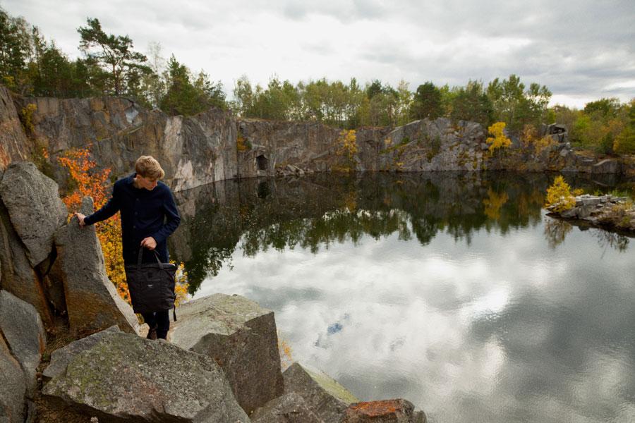 Sandqvist — stylové batohy a tašky — lookbook podzim/zima 2016 — černý batoh