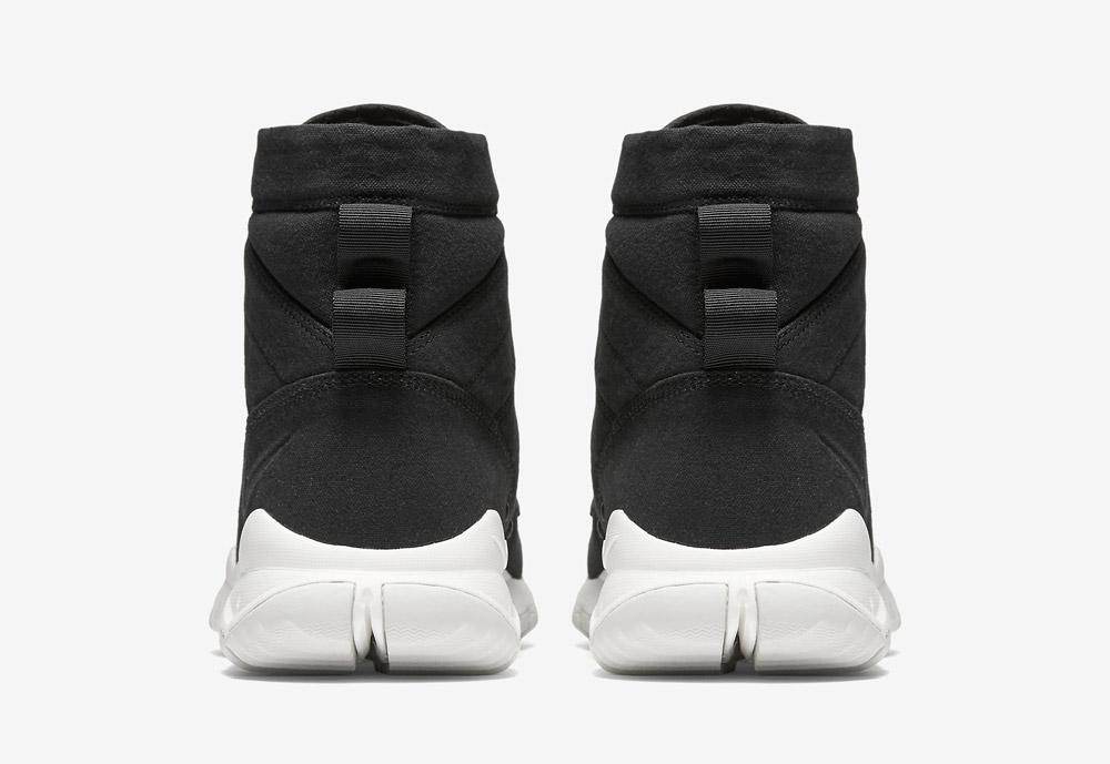 """Nike SFB Field 6"""" Canvas — vysoké kotníkové boty — béžové, hnědé, pískové — zadní pohled"""