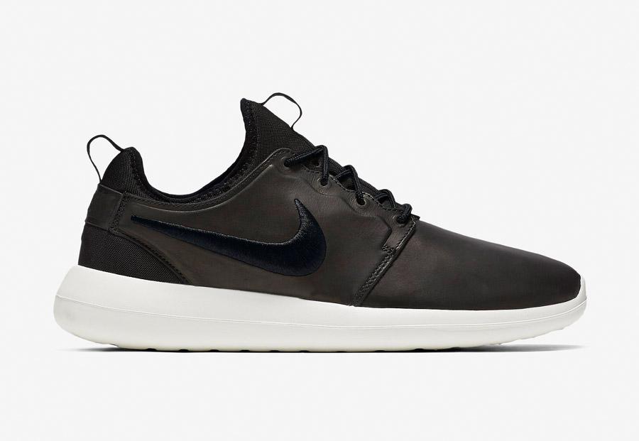 NikeLab Roshe Two Leather — boty — kožené tenisky — sneakers — černé — pánské — Nike Roshe Two