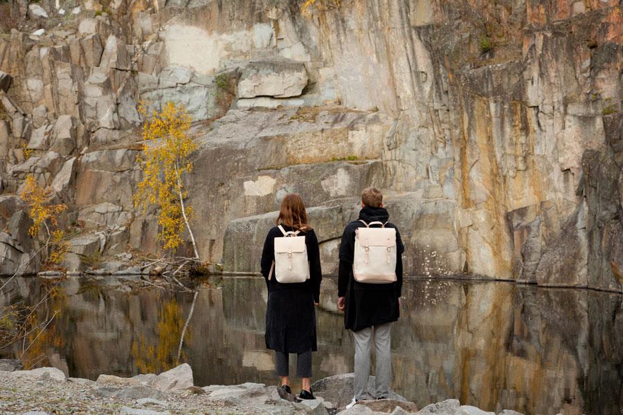 Sandqvist — stylové batohy a tašky — lookbook podzim/zima 2016 — batohy, smetanové barvy, tělové