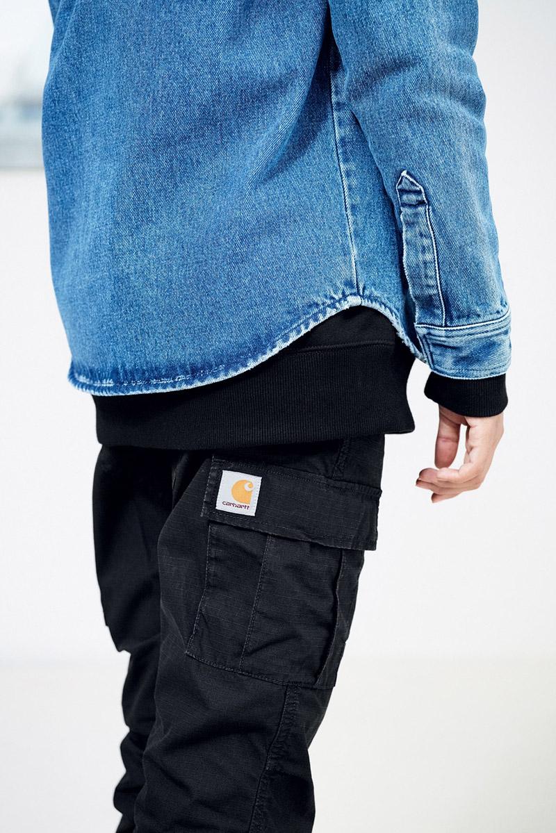 Carhartt WIP — dámské černé kapsáče — kalhoty