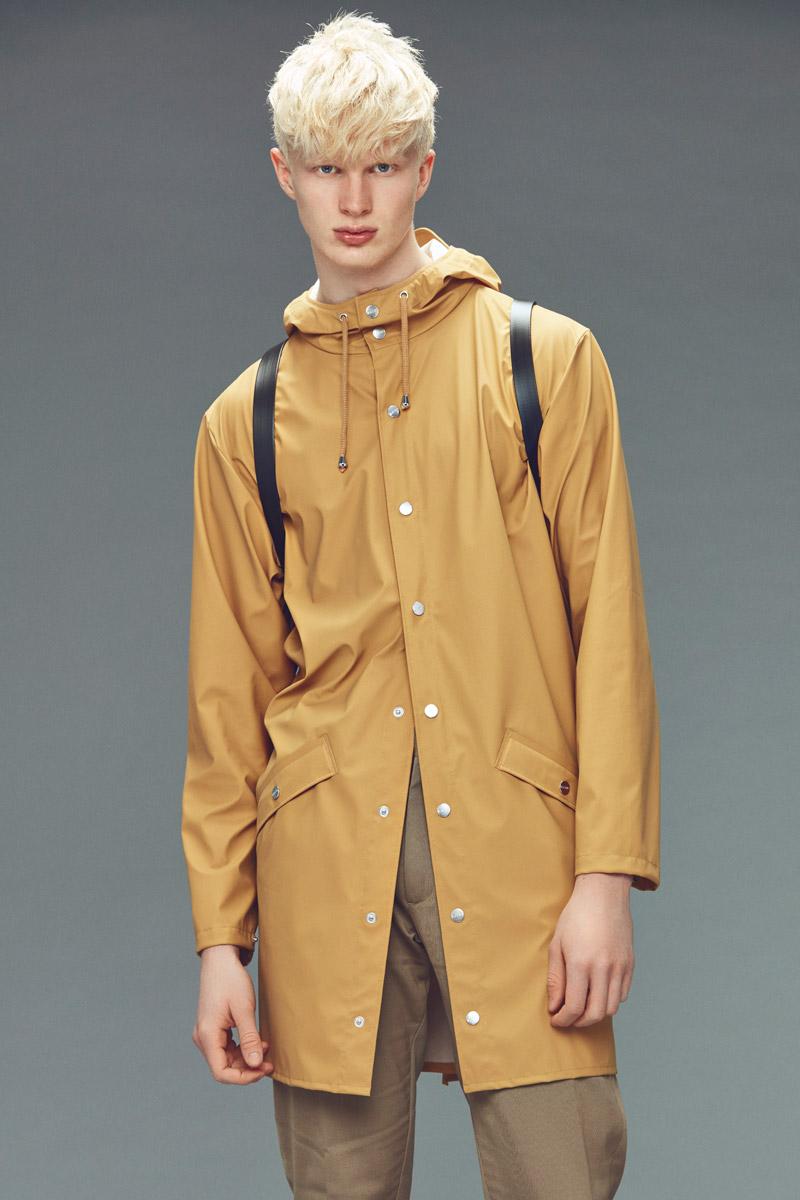Rains — plášt do deště — khaki — pánský pršiplášť s kapucí — pláštěnka — podzim/zima 2016 — lookbook