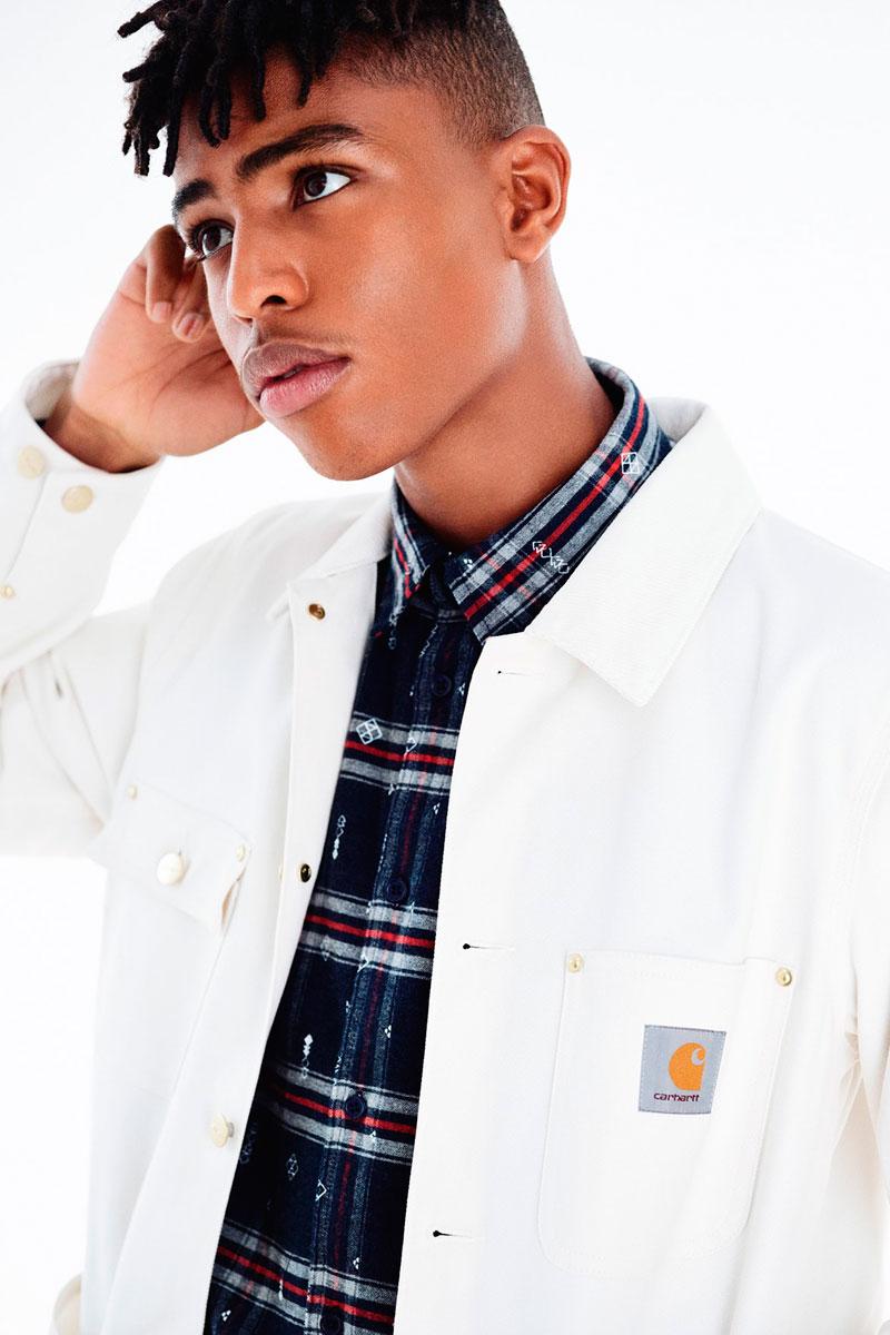 Carhartt WIP — pánská podzimní bunda bez kapuce — bílá