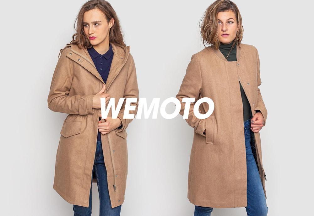 Zimní kabáty pro ženy — Wemoto Sania/Megan — béžové