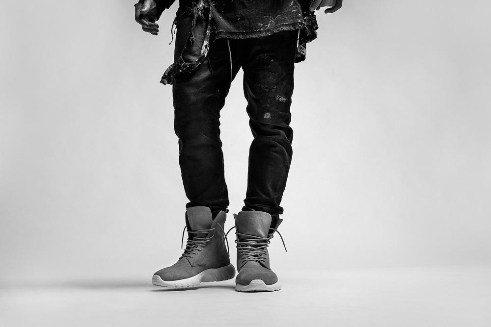 CU4TRO — pánské — kotníkové boty — Ninja — vysoké sneakers — semišové — šedé — lookbook