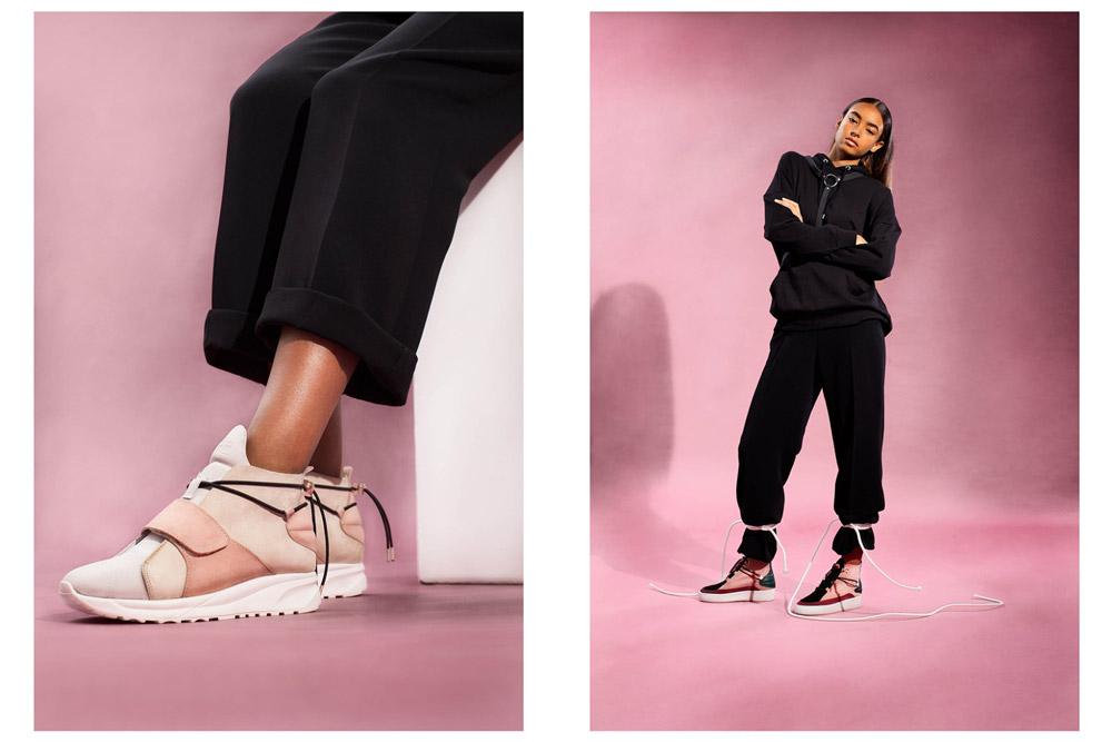 Filling Pieces — dámské kotníkové boty bez tkaniček — růžové — luxusní — futuristické