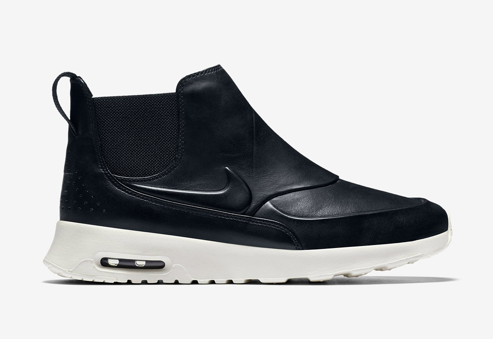 Nike Air Max Thea Mid — dámské kotníkové boty — kožené — slip on — dámská perka (Chelsea Boots) — černé