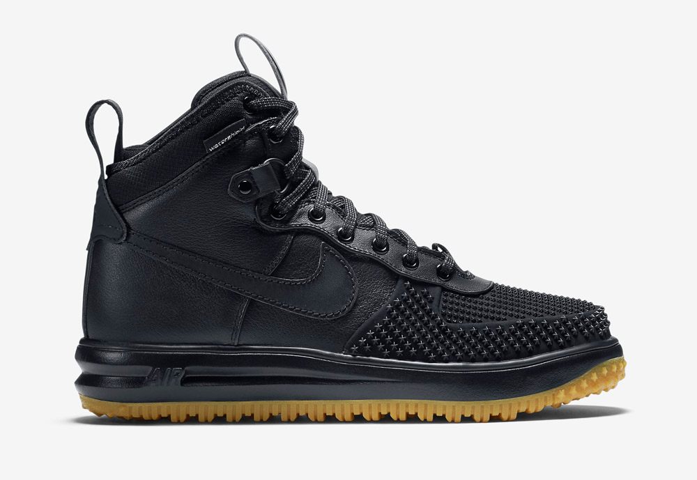 Nike Lunar Force 1 Duckboot — vysoké zimní boty — pánské — kotníkové, sportovní — černé