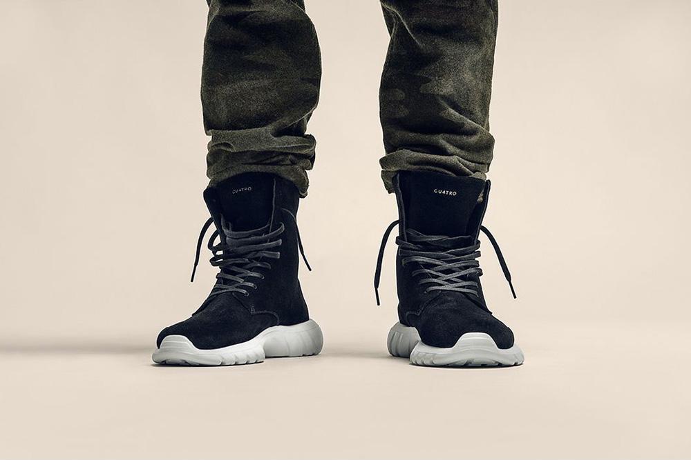 CU4TRO — pánské — kotníkové boty — Ninja — vysoké sneakers — semišové — černé — lookbook