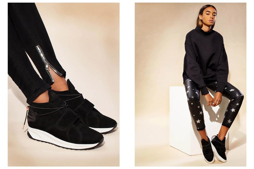 Filling Pieces — dámské kotníkové boty bez tkaniček — černé — luxusní — futuristické