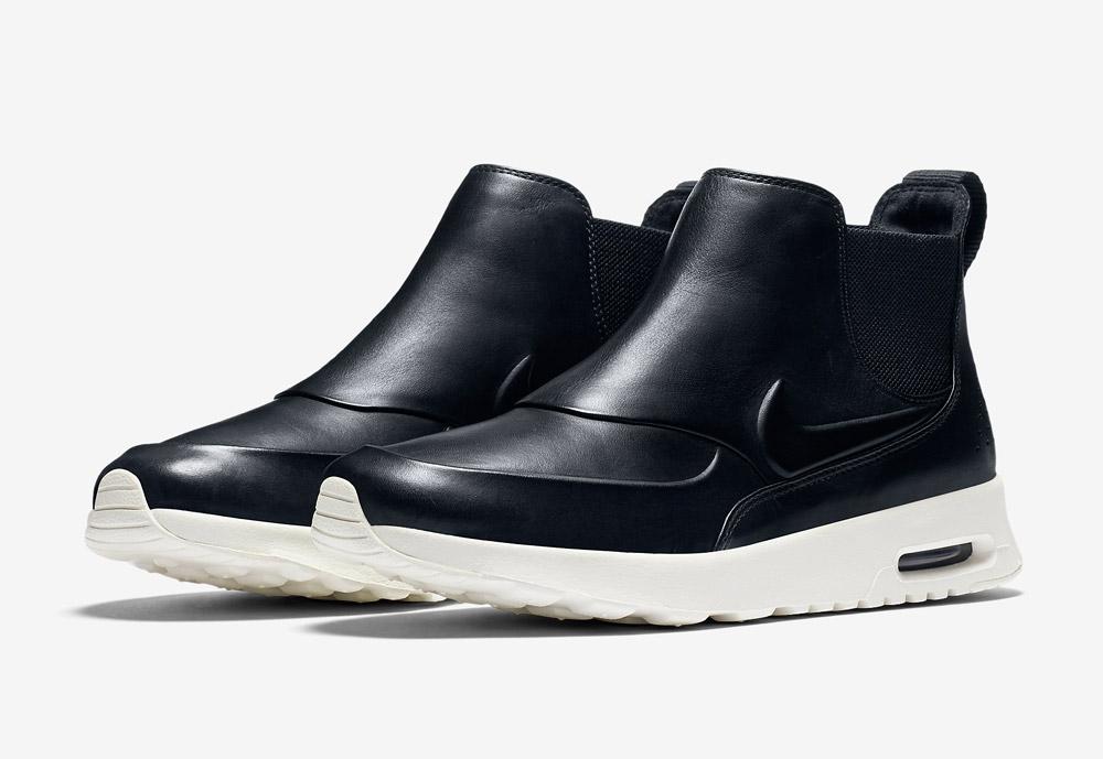 Nike Air Max Thea Mid — kotníkové boty — dámské — kožené — slip on — dámská perka (Chelsea Boots) — černé
