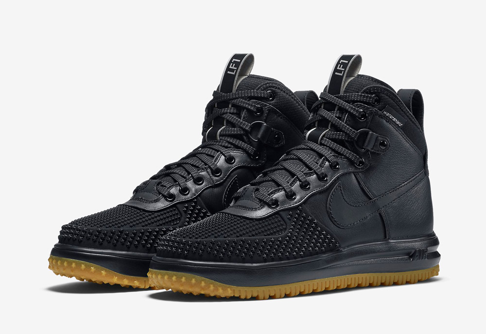 Nike Lunar Force 1 Duckboot — pánské zimní boty — vysoké — kotníkové, sportovní — černé