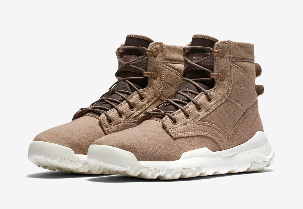 """Nike SFB 6"""" Canvas — dámské zimní a podzimní kotníkové boty — zimní, podzimní — vysoké — béžové, hnědé, pískové"""