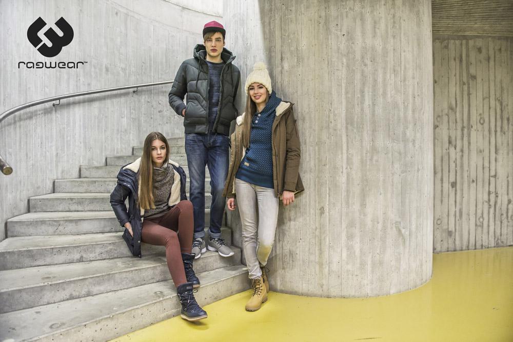 Ragwear — dámské zimní bundy s kapucí a kožíškem, parky — pánská zimní bunda, prošívaná — podzim/zima 2016