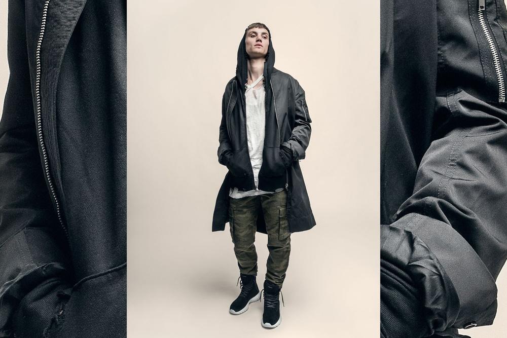 CU4TRO — pánské — vysoké boty — Ninja — kotníkové sneakers — semišové — černé — lookbook