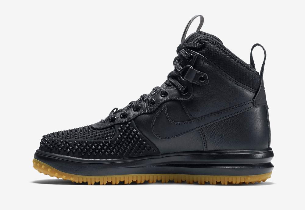 Nike Lunar Force 1 Duckboot — zimní boty — pánské — vysoké, kotníkové, sportovní — černé