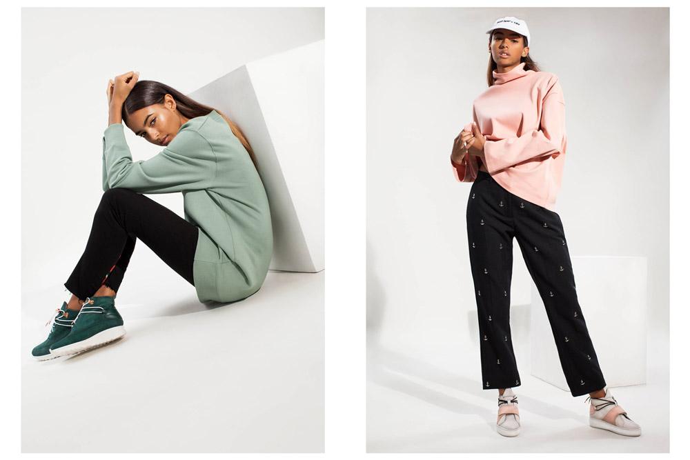 Filling Pieces — dámské kotníkové boty bez tkaniček — zelené, růžové — luxusní — futuristické