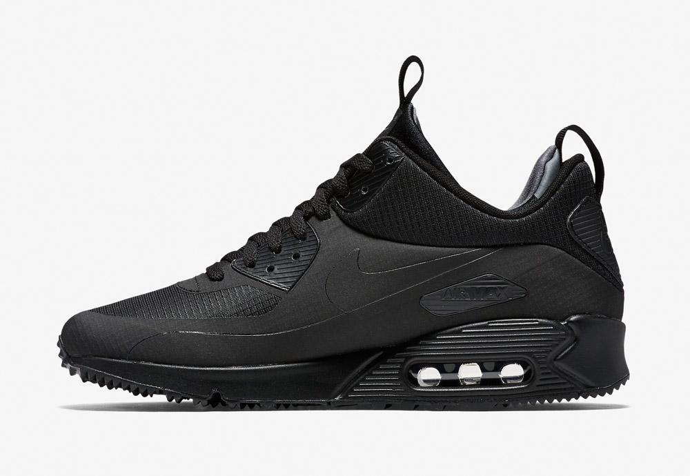 Nike Air Max 90 Mid Winter — pánské — zimní boty — tenisky — kotníkové sneakers — černé — Airmaxy