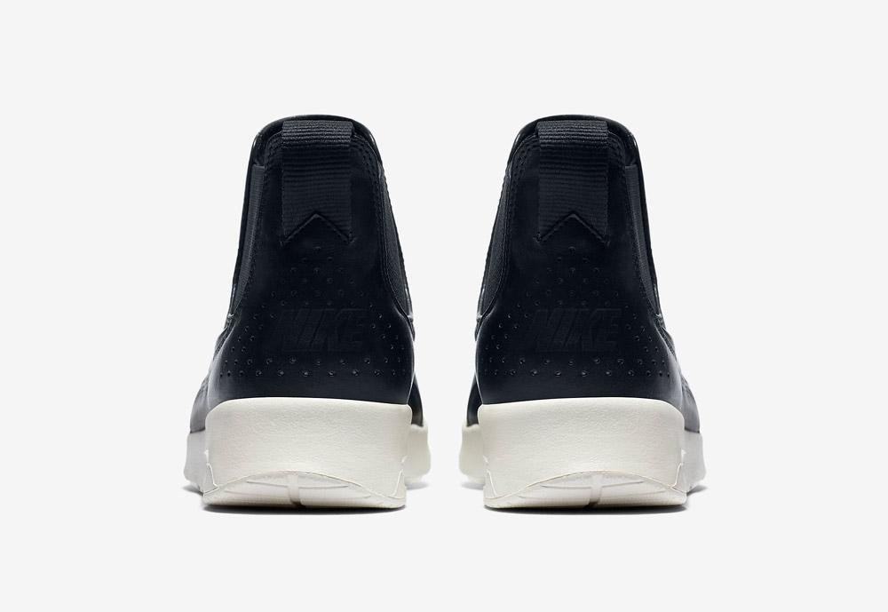 Nike Air Max Thea Mid — dámské kotníkové boty — černé — zadní pohled