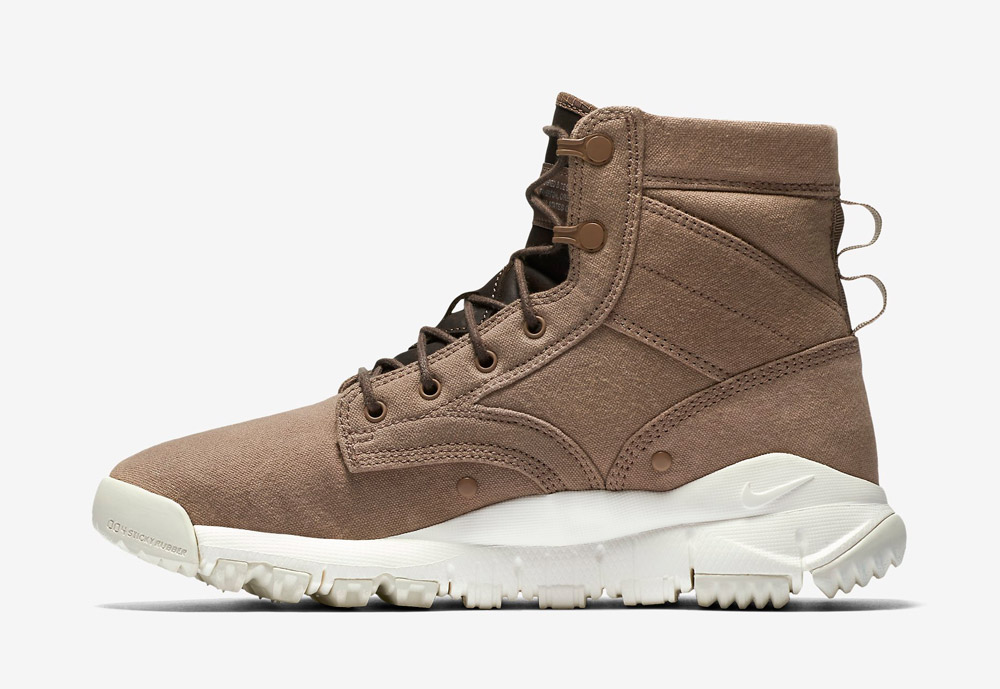 """Nike SFB 6"""" Canvas — vysoké kotníkové boty — zimní, podzimní — dámské — béžové, hnědé, pískové"""