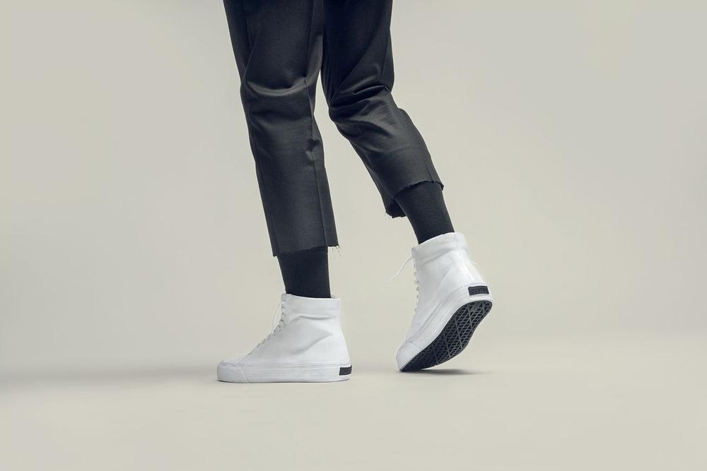 CU4TRO — pánské — vysoké sneakers — Norris — kotníkové boty — kožené — bílé — lookbook