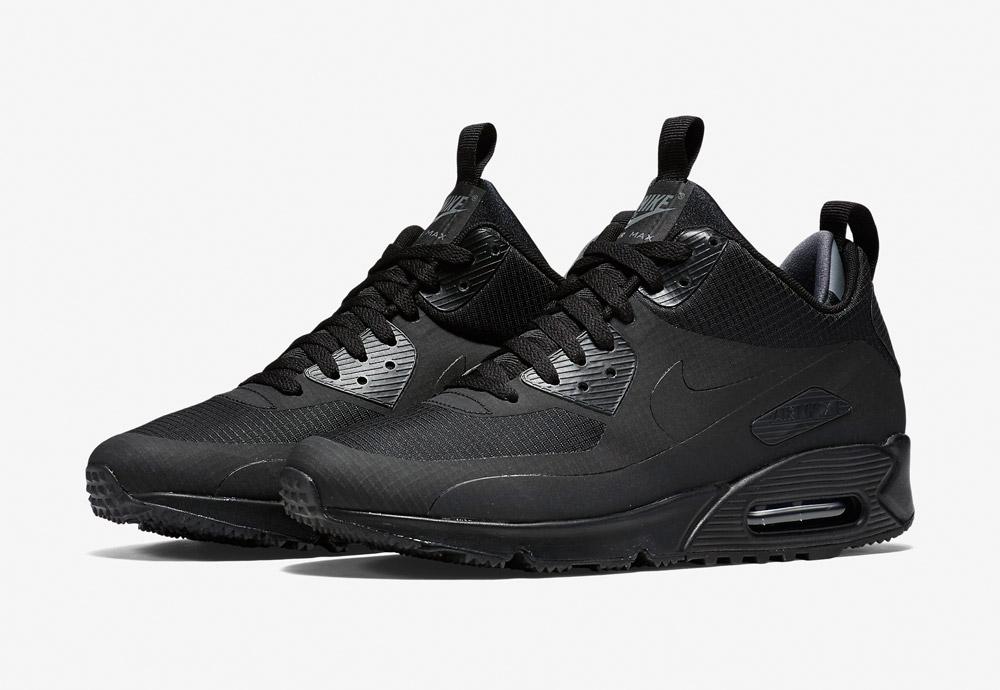 Nike Air Max 90 Mid Winter — zimní boty — pánské — tenisky — kotníkové sneakers — černé — Airmaxy