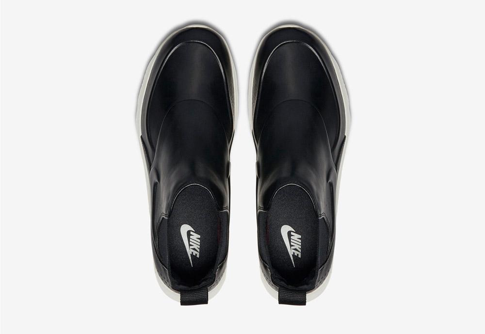 Nike Air Max Thea Mid — dámské kotníkové boty — černé — horní pohled