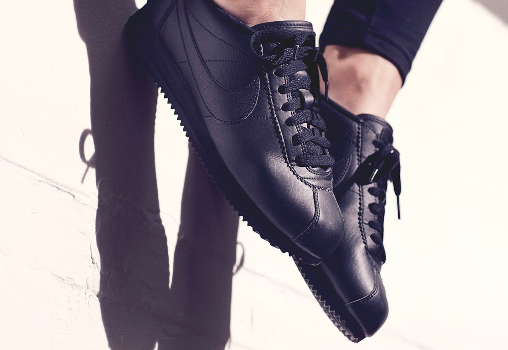 Nike Beautiful x Powerful Collection — Nike Classic Cortez Premium — dámské boty — tenisky — sneakers — černé