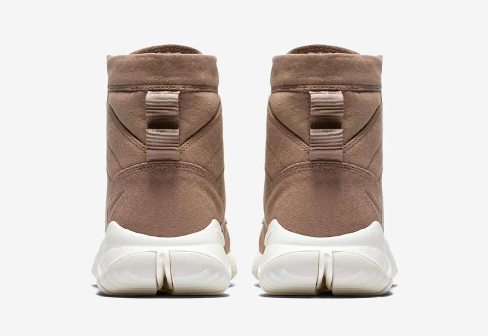 """Nike SFB 6"""" Canvas — vysoké kotníkové boty — béžové, hnědé, pískové — zadní pohled"""