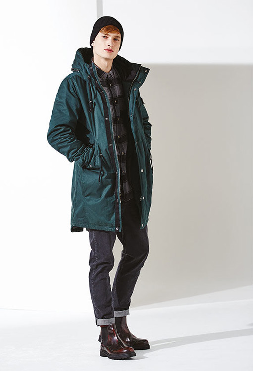 Bench — pánská zimní parka — zelená bunda s kapucí — podzim/zima 2016