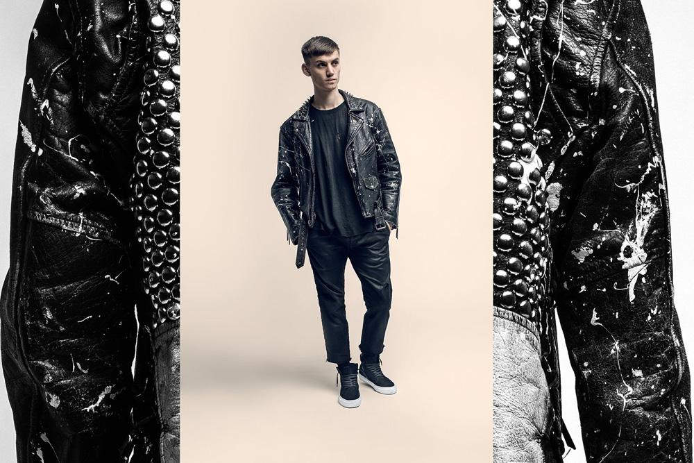 CU4TRO — pánské — vysoké sneakers — Norris — kotníkové boty — semišové — černé — lookbook