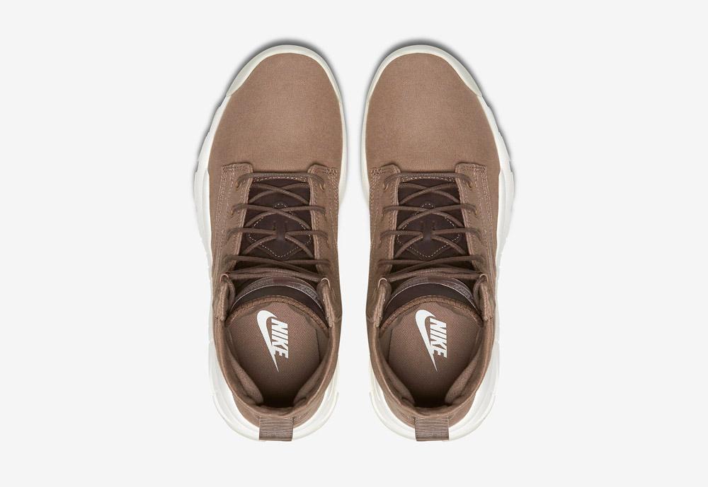 """Nike SFB 6"""" Canvas — vysoké kotníkové boty — béžové, hnědé, pískové — horní pohled"""