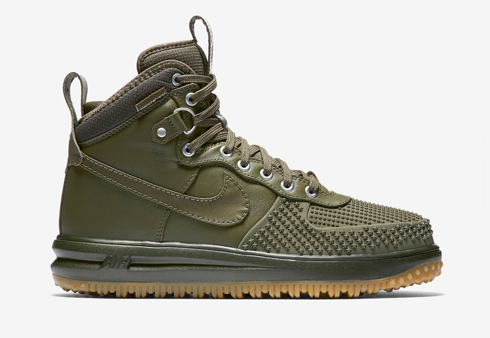 Nike Lunar Force 1 Duckboot — vysoké zimní boty — pánské — kotníkové, sportovní — zelené, olivové
