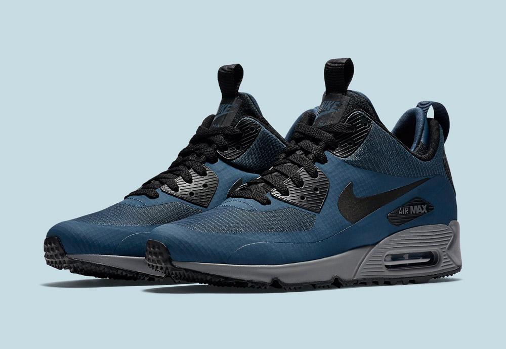 Nike Air Max 90 Mid Winter — zimní boty — pánské — tenisky — kotníkové sneakers — tmavě modré — Airmaxy