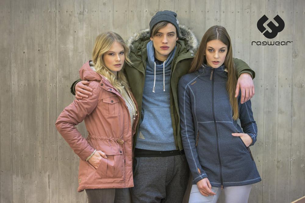 Ragwear — dámské a pánské zimní bundy s kapucí — dámská bunda bez kapuce se stojáčkem — podzim/zima 2016