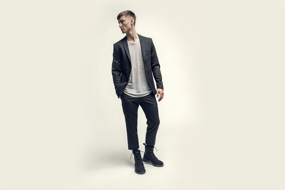 CU4TRO — pánské — kotníkové boty — Ninja — vysoké sneakers — textilní — černé — lookbook